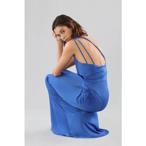 Vendita Abbigliamento Usato FIrmato - Abito blu monospalla con dettagli - Forever unique - Drexcode -10