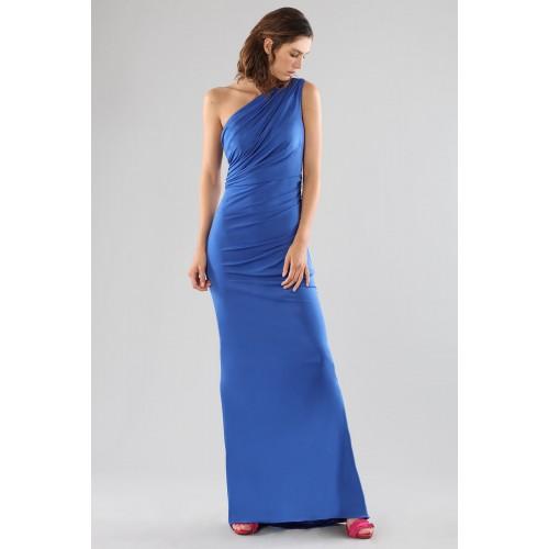 Vendita Abbigliamento Usato FIrmato - Abito blu monospalla con dettagli - Forever unique - Drexcode -7
