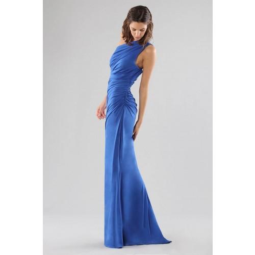 Vendita Abbigliamento Usato FIrmato - Abito blu monospalla con dettagli - Forever unique - Drexcode -12