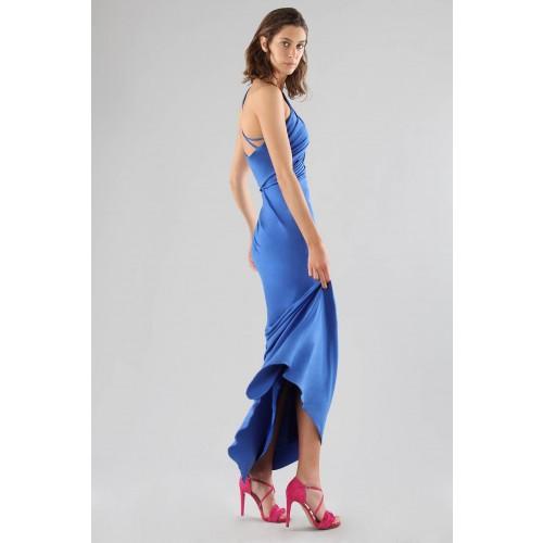 Vendita Abbigliamento Usato FIrmato - Abito blu monospalla con dettagli - Forever unique - Drexcode -14