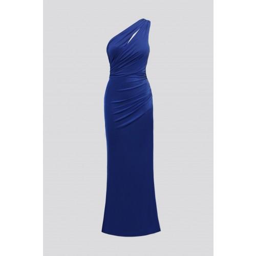Vendita Abbigliamento Usato FIrmato - Abito blu monospalla con dettagli - Forever unique - Drexcode -6