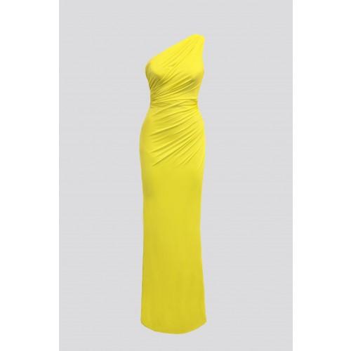 Vendita Abbigliamento Usato FIrmato - Abito lime monospalla con dettagli - Forever unique - Drexcode -6