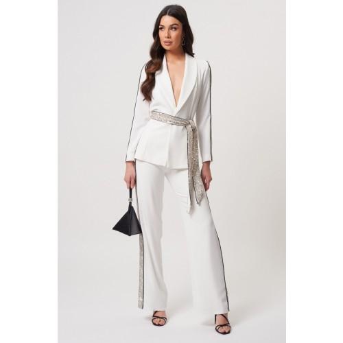 Vendita Abbigliamento Usato FIrmato - Tailleur bianco con inserti in paillettes - Forever unique - Drexcode -1