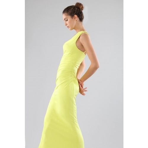 Vendita Abbigliamento Usato FIrmato - Abito lime monospalla con dettagli - Forever unique - Drexcode -8
