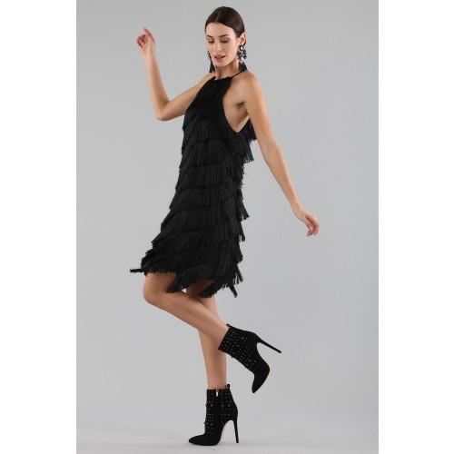 Vendita Abbigliamento Usato FIrmato - Abito corto con frange - Halston - Drexcode -11