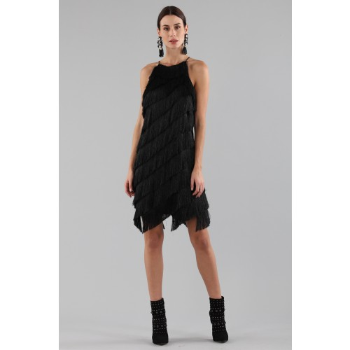Vendita Abbigliamento Usato FIrmato - Abito corto con frange - Halston - Drexcode -6