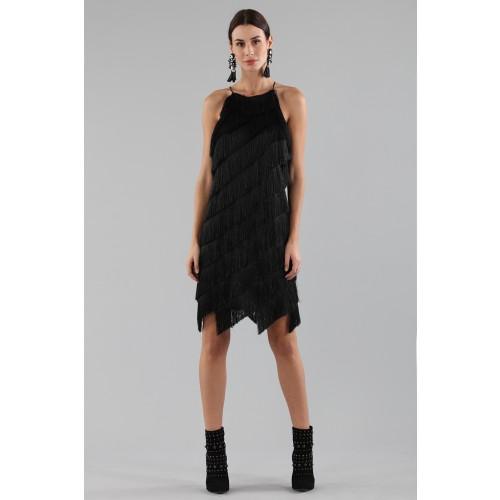 Vendita Abbigliamento Usato FIrmato - Abito corto con frange - Halston - Drexcode -10