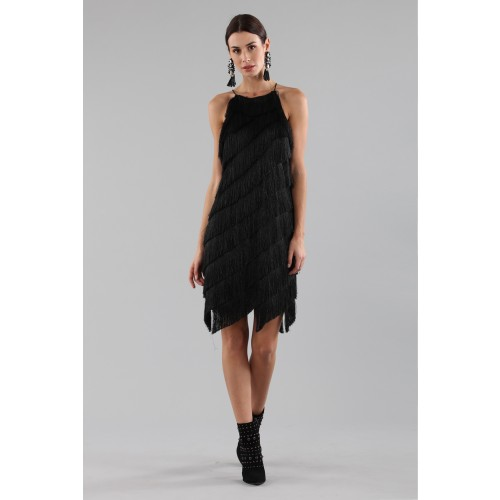 Vendita Abbigliamento Usato FIrmato - Abito corto con frange - Halston - Drexcode -7
