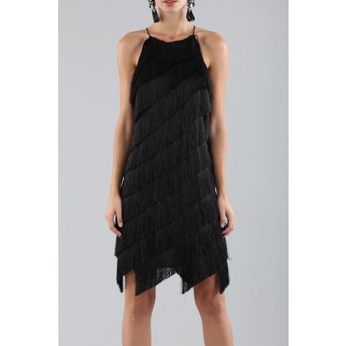 Vendita Abbigliamento Usato FIrmato - Abito corto con frange - Halston - Drexcode -5