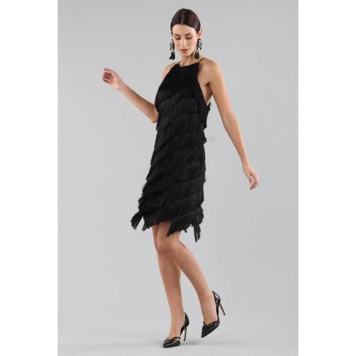 Vendita Abbigliamento Usato FIrmato - Abito corto con frange - Halston - Drexcode -4