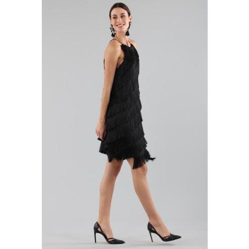 Vendita Abbigliamento Usato FIrmato - Abito corto con frange - Halston - Drexcode -8