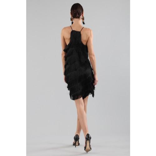 Vendita Abbigliamento Usato FIrmato - Abito corto con frange - Halston - Drexcode -9