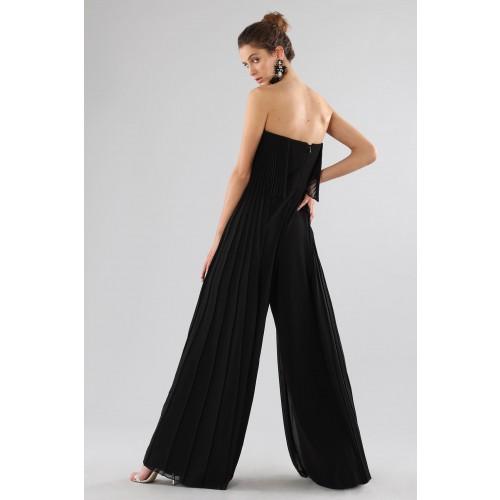 Vendita Abbigliamento Usato FIrmato - Jumpsuit nera bustier - Halston - Drexcode -2