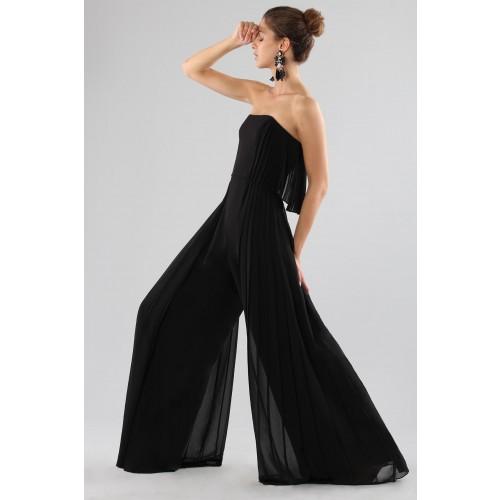 Vendita Abbigliamento Usato FIrmato - Jumpsuit nera bustier - Halston - Drexcode -4