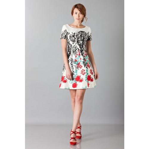 Vendita Abbigliamento Usato FIrmato - Abito in seta duchesse con ricamo floreale - Blumarine - Drexcode -9