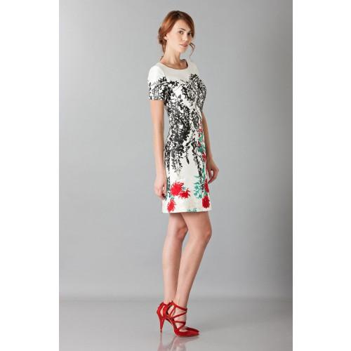 Vendita Abbigliamento Usato FIrmato - Abito in seta duchesse con ricamo floreale - Blumarine - Drexcode -8