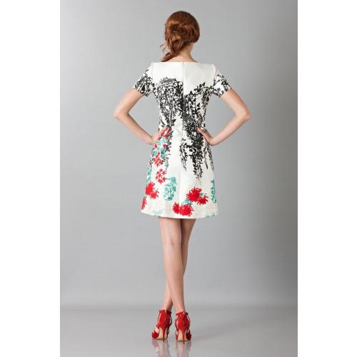 Vendita Abbigliamento Usato FIrmato - Abito in seta duchesse con ricamo floreale - Blumarine - Drexcode -6