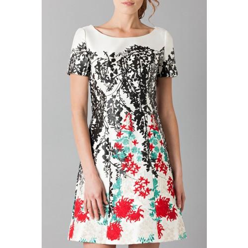 Vendita Abbigliamento Usato FIrmato - Abito in seta duchesse con ricamo floreale - Blumarine - Drexcode -7