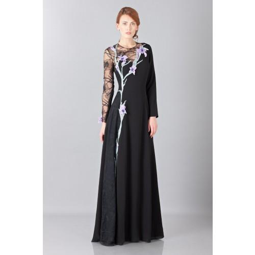 Vendita Abbigliamento Usato FIrmato - Abito lungo in pizzo con ricamo - Nina Ricci - Drexcode -5