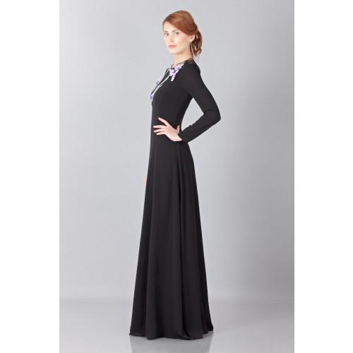 Vendita Abbigliamento Usato FIrmato - Abito lungo in pizzo con ricamo - Nina Ricci - Drexcode -8