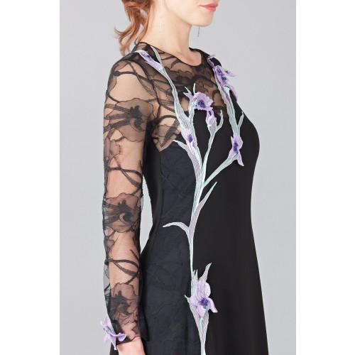 Vendita Abbigliamento Usato FIrmato - Abito lungo in pizzo con ricamo - Nina Ricci - Drexcode -9