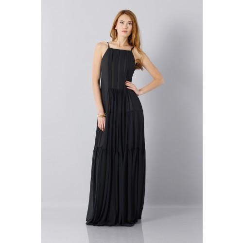 Vendita Abbigliamento Usato FIrmato - Abito nero scivolato - Vera Wang - Drexcode -9