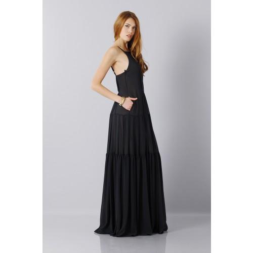 Vendita Abbigliamento Usato FIrmato - Abito nero scivolato - Vera Wang - Drexcode -5