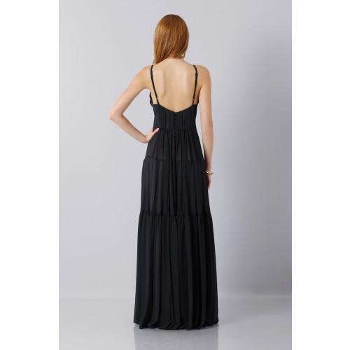 Vendita Abbigliamento Usato FIrmato - Abito nero scivolato - Vera Wang - Drexcode -2