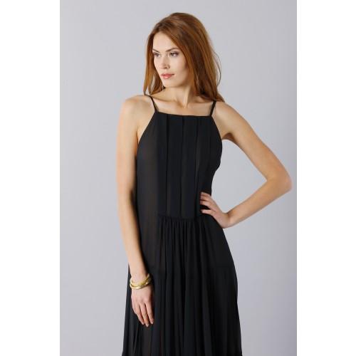 Vendita Abbigliamento Usato FIrmato - Abito nero scivolato - Vera Wang - Drexcode -4