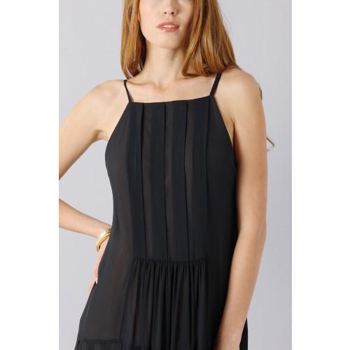Vendita Abbigliamento Usato FIrmato - Abito nero scivolato - Vera Wang - Drexcode -7