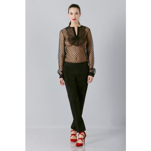 Vendita Abbigliamento Usato FIrmato - Camicia plumetis - Rochas - Drexcode -5