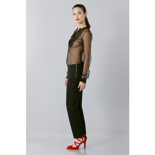 Vendita Abbigliamento Usato FIrmato - Camicia plumetis - Rochas - Drexcode -3