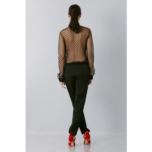 Vendita Abbigliamento Usato FIrmato - Camicia plumetis - Rochas - Drexcode -2