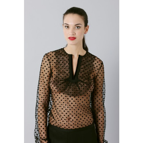 Vendita Abbigliamento Usato FIrmato - Camicia plumetis - Rochas - Drexcode -1