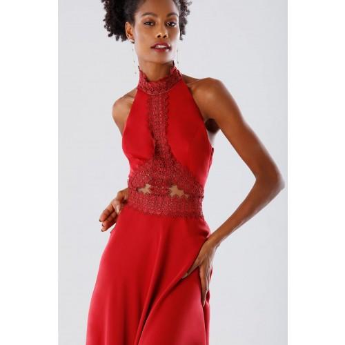 Vendita Abbigliamento Usato FIrmato - Abito asimmetrico rosso con trasparenze - Kathy Heyndels - Drexcode -7
