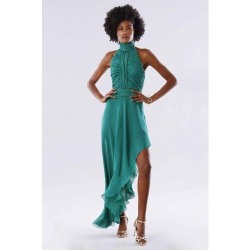 Vendita Abbigliamento Usato FIrmato - Abito asimmetrico verde con schiena scoperta - Kathy Heyndels - Drexcode -6