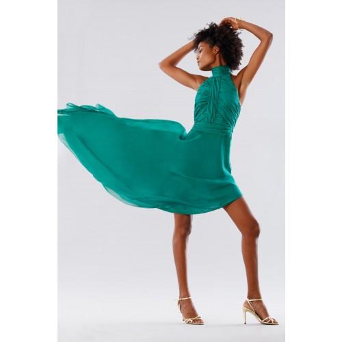 Vendita Abbigliamento Usato FIrmato - Abito asimmetrico verde con schiena scoperta - Kathy Heyndels - Drexcode -3
