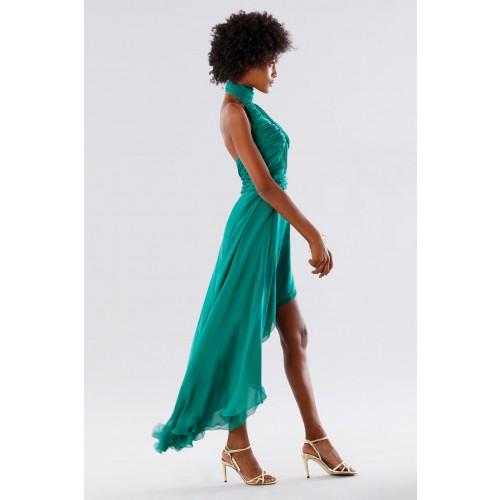 Vendita Abbigliamento Usato FIrmato - Abito asimmetrico verde con schiena scoperta - Kathy Heyndels - Drexcode -1