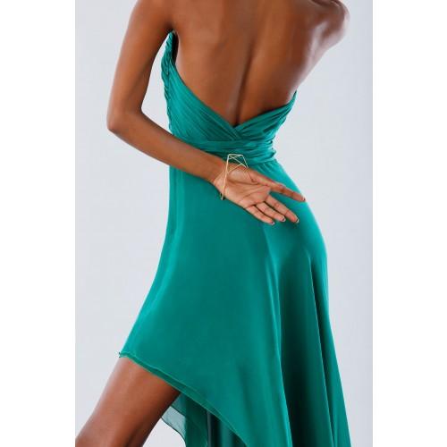 Vendita Abbigliamento Usato FIrmato - Abito asimmetrico verde con schiena scoperta - Kathy Heyndels - Drexcode -2