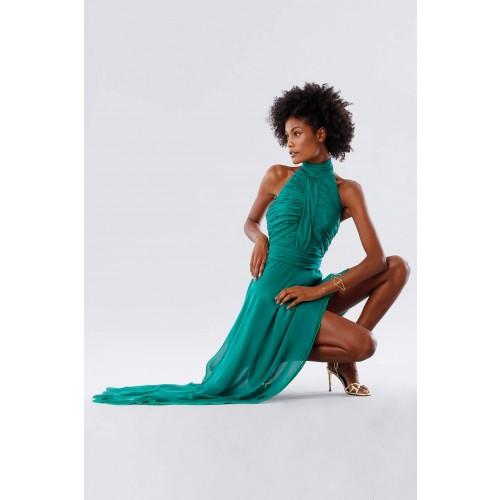 Vendita Abbigliamento Usato FIrmato - Abito asimmetrico verde con schiena scoperta - Kathy Heyndels - Drexcode -5