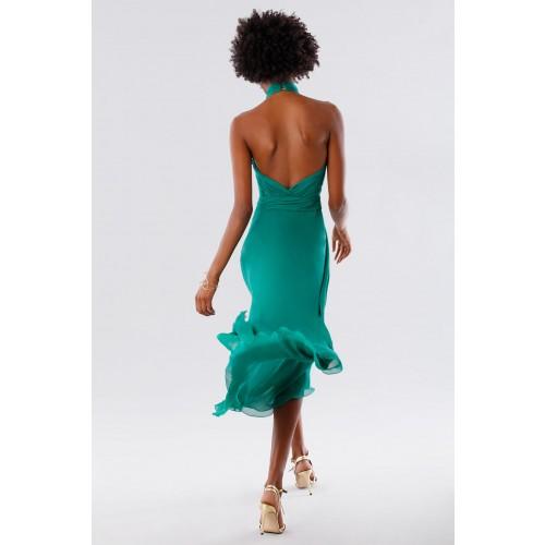 Vendita Abbigliamento Usato FIrmato - Abito asimmetrico verde con schiena scoperta - Kathy Heyndels - Drexcode -8