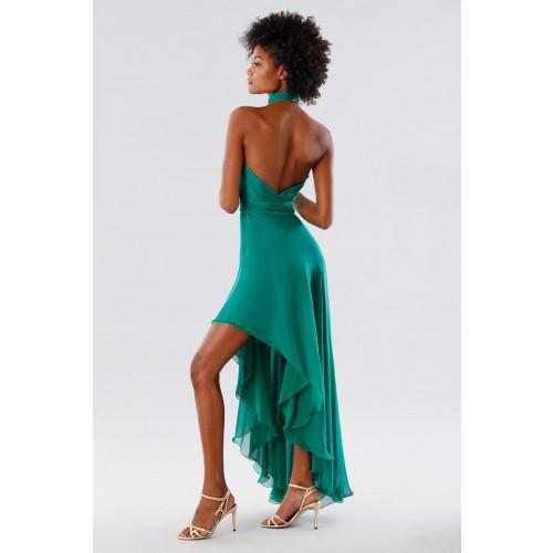 Vendita Abbigliamento Usato FIrmato - Abito asimmetrico verde con schiena scoperta - Kathy Heyndels - Drexcode -9