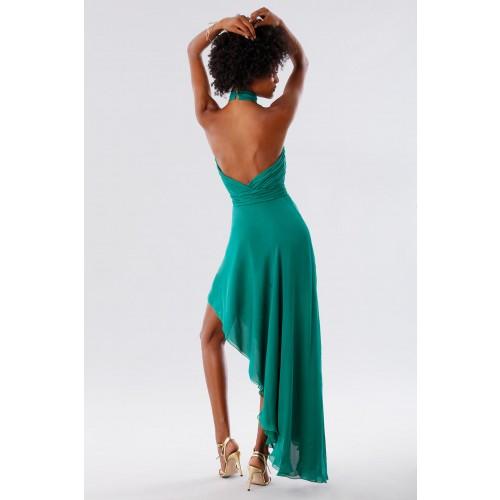 Vendita Abbigliamento Usato FIrmato - Abito asimmetrico verde con schiena scoperta - Kathy Heyndels - Drexcode -7