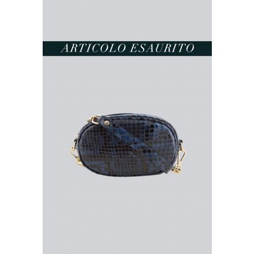 Vendita Abbigliamento Usato FIrmato - Marsupio clutch pitonato blu - AM - Drexcode -3