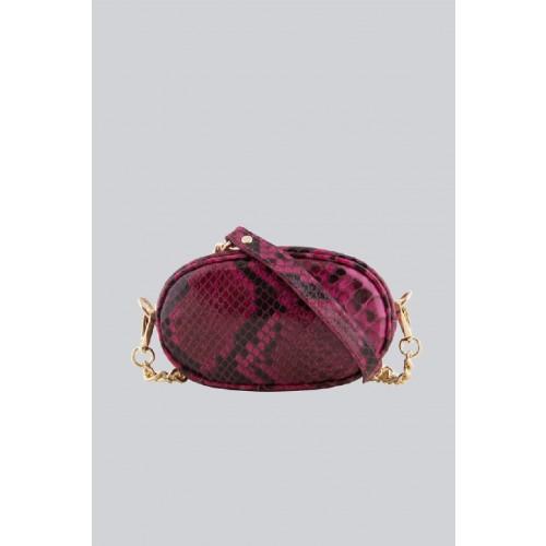 Vendita Abbigliamento Usato FIrmato - Marsupio clutch pitonato bordeaux - AM - Drexcode -3