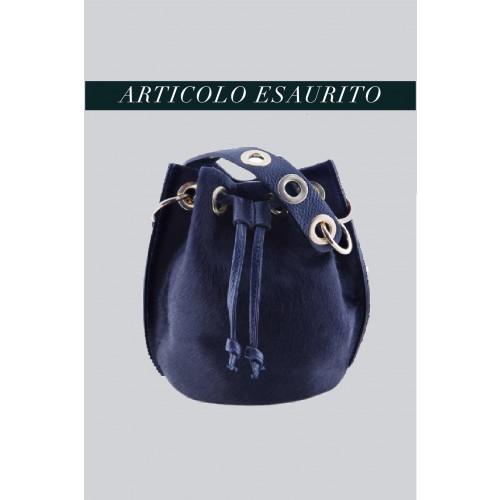 Vendita Abbigliamento Usato FIrmato - Mini secchiello in cavallino blu - AM - Drexcode -3