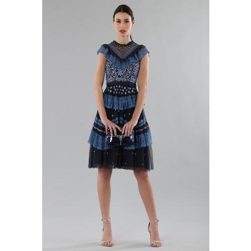 Vendita Abbigliamento Usato FIrmato - Abito corto con balze e ricamo floreale - Needle&Thread - Drexcode -6