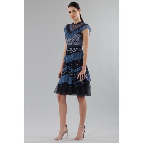 Vendita Abbigliamento Usato FIrmato - Abito corto con balze e ricamo floreale - Needle&Thread - Drexcode -3