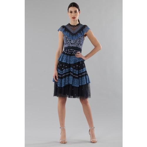 Vendita Abbigliamento Usato FIrmato - Abito corto con balze e ricamo floreale - Needle&Thread - Drexcode -7