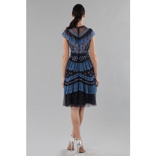 Vendita Abbigliamento Usato FIrmato - Abito corto con balze e ricamo floreale - Needle&Thread - Drexcode -5